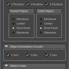3ds Max Align Tool for Maya for Maya 1.0.0 (maya script)