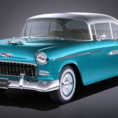 Chevrolet Bel Air 1955 Coupe VRAY 3D Model