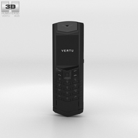 Vertu Signature Pure Black 3D Model