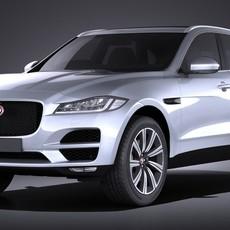 Jaguar F-pace 2017 VRAY 3D Model