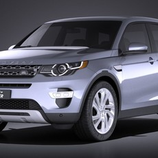 Land Rover Discovery Sport 2016 3D Model