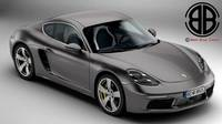 Porsche 718 Cayman 2017 3D Model