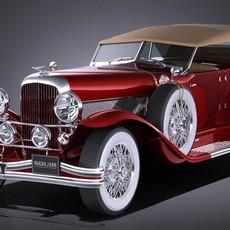 Duesenberg Convertible SJ LA Grand Dual-Cowl Phaeton 1935 3D Model