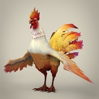 Game Ready Fantasy Cock 3D Model