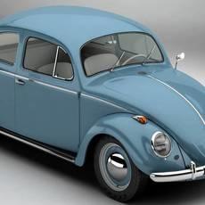 Volkswagen Beetle 1963 1200 Deluxe 3D Model