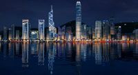Hong Kong night sence 3D Model