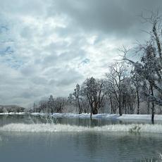 Snow Scene 002 3D Model