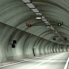 Tileable road tunnel 02 3D Model