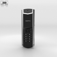 Vertu Signature Clous de Paris Stainless Steel 3D Model