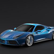 Ferrari 488 Spider 2016 3D Model