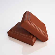 Chocolate pieces 3D Model