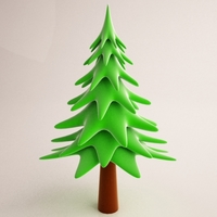 Cartoon Tree 02 3D Model