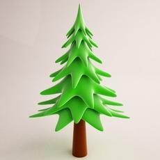 Cartoon Tree 02 3D Model