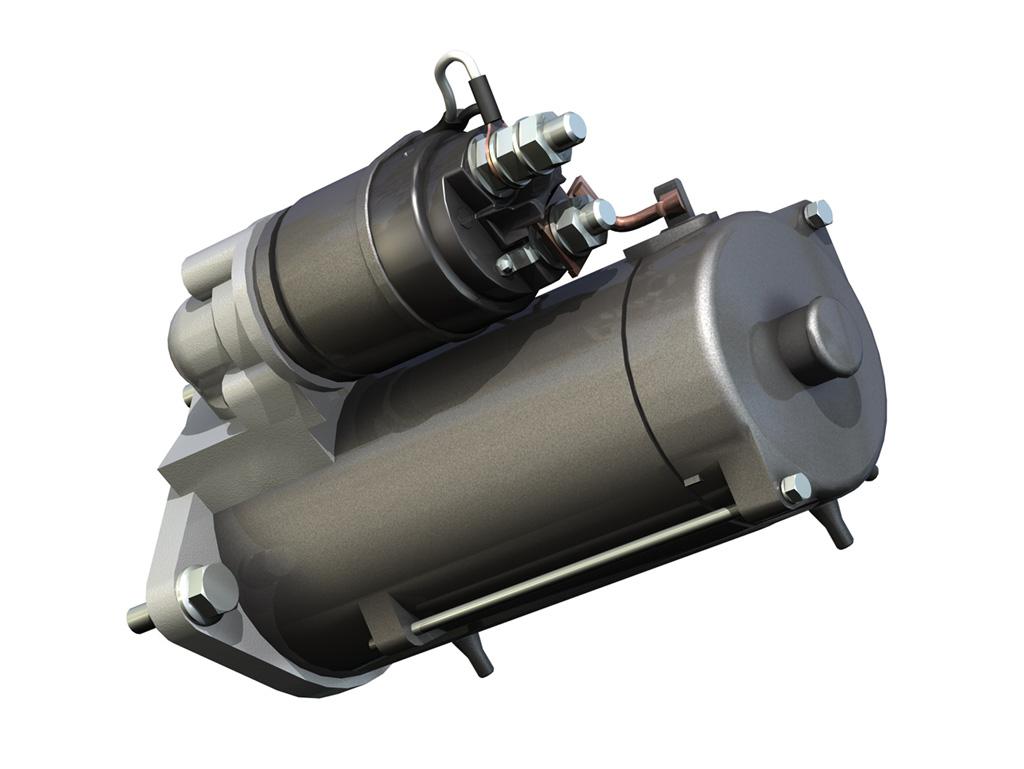 Starter Motor 03 3d Model