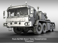 Faun STL-56 Heavy Tank Transporter 3D Model