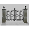 Free Driveway Gate Old 3D Model