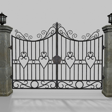 Driveway Gate Old 3D Model