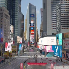 New York Times Square at Day and Night 3D Model