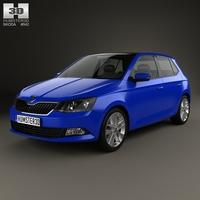 Skoda Fabia hatchback 2015 3D Model
