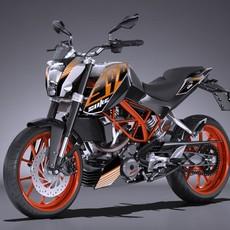 KTM DUKE 390 2016 3D Model