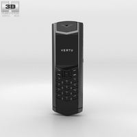 Vertu Signature Clous de Paris Pure Black 3D Model