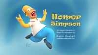 Free Homer Simpson for Maya 0.0.1