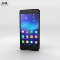 Huawei Honor 6 Black 3D Model