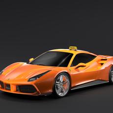 Ferrari GTB 488 Taxi 2016 3D Model