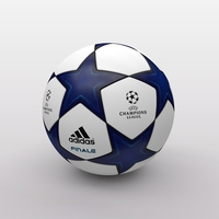 UEFA Champions League Ball 2010/2011 3D Model