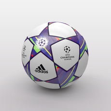 UEFA Champions League Ball 2011/2012 3D Model