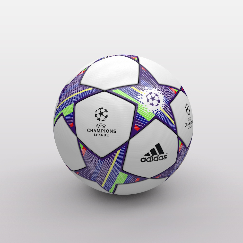 Champions League: UEFA Champions League Ball 2011/2012 3D Model
