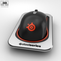 SteelSeries Sensei Wireless Laser Mouse 3D Model