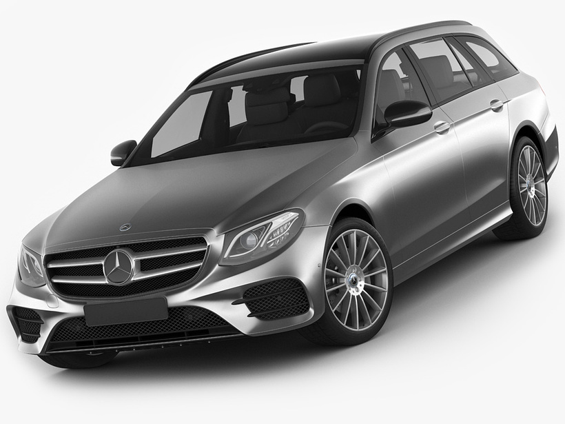 Mercedes E-class T-modell AMG 2017 3D Model