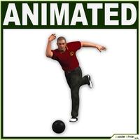 Bowling Player CG 3D Model