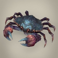 Game Ready Fantasy Krab 3D Model