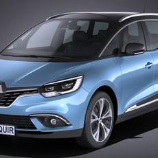 Renault Grand Scenic 2017 3D Model