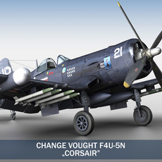 Change Vought F4U-5N Corsair 3D Model