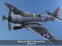 Douglas TDB-1 Devastator 3D Model