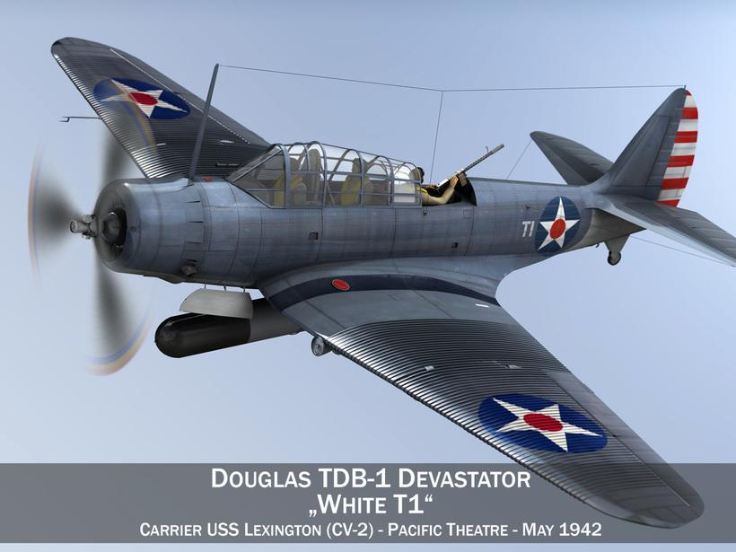 Douglas TDB-1 Devastator - T1 3D Model