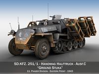 SD.KFZ 251/1 Ausf.C - Stuka zu Fuss 3D Model
