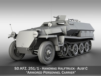 SD.KFZ 251/1 Ausf.C - Walking Stuka 3D Model