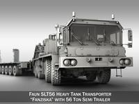 Faun STL-56 - Tractor with 52 ton Semi-Trailer 3D Model