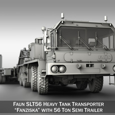 Faun STL-56 - Tractor with 52 ton Semi-Trailer 3D Model