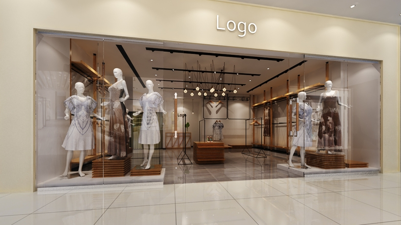 Store Shop interior in Mall (Render Ready) 3D Model