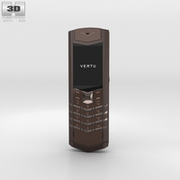 Vertu Signature Pure Chocolate Stainless Steel 3D Model