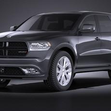 Dodge Durango 2014 VRAY 3D Model