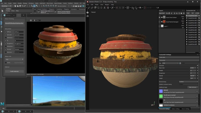 Substance Painter importer for Maya