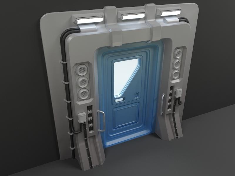 Sci-Fi Door 03 3D Model