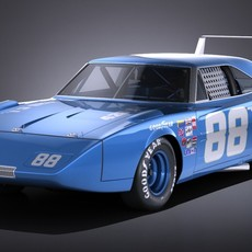 Dodge Charger Daytona 1969 NASCAR 3D Model