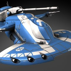 Star Wars AAT Battletank Blue 3D Model